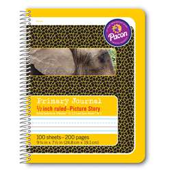 "Primary Journal 1/2"" Ruled Picture Story Spiral B, PAC2430"