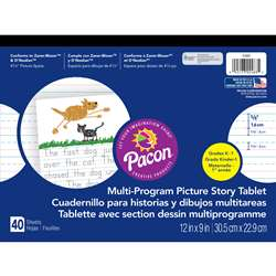 Picture Story Paper 40 Sht 12X9 5/8 In Rule Long By Pacon