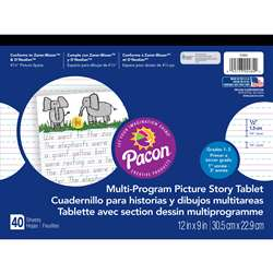 Picture Story Paper 40 Sht 12X9 1/2 In Rulelong By Pacon