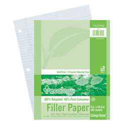 Ecology Recycled Filler Paper Pack College Ruled By Pacon