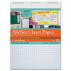 "Heavy Duty Anchor 27X34 1"" Grid Ruled Chart Paper, PAC3372"