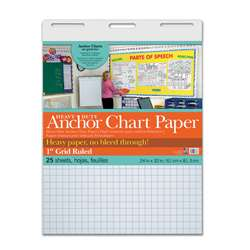 "Heavy Duty Anchor 24X32 1"" Grid Ruled Chart Paper, PAC3373"