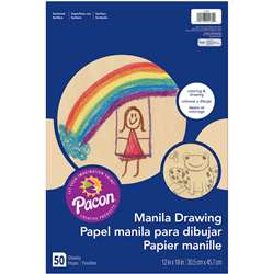 Drawing 12X18 Manila Juv 50Ct, PAC4139