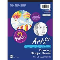 Art1St Drawing Pad 9X12 24 Sht Wht By Pacon