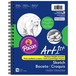 Art1St Sketch Diary 11 X 8 1/2 White 50Lb By Pacon