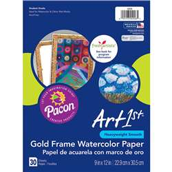 Art1St Gold Frame Watercolor Paper, PAC4926