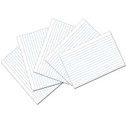White 4X6 Ruled Index Cards 100Pk, PAC5136