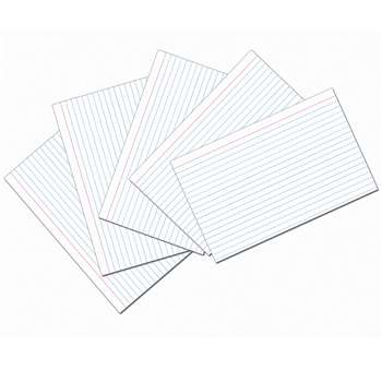 White 5X8 Ruled Index Cards 100Pk, PAC5137