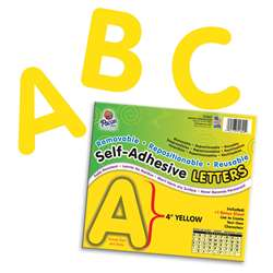 4 Self-Adhesive Letters Yellow By Pacon