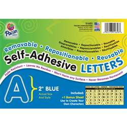 2 Self-Adhesive Letters Blue By Pacon