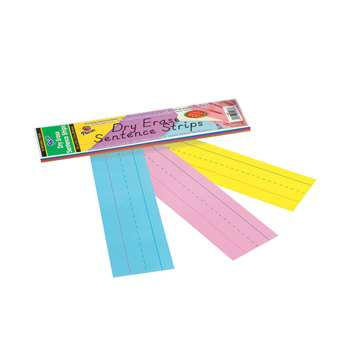 Dry Erase Sentence Strips Assorted 3 X 12 By Pacon