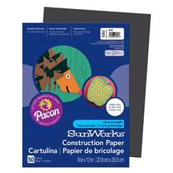 Construction Paper Black 9X12 By Pacon