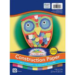 Construction Paper Assorted 9X12 By Pacon