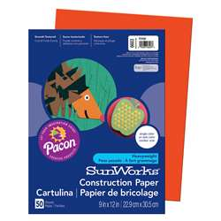 Construction Paper Orange 9X12 By Pacon