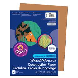 Construction Paper Brown 9X12 By Pacon