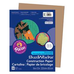 Construction Paper Light Brown 9X12 By Pacon