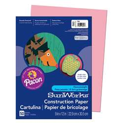 Construction Paper Pink 9X12 By Pacon