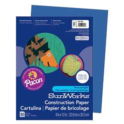 Construction Paper Dark Blue 9X12 By Pacon