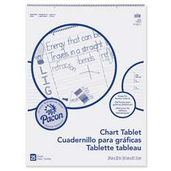 "Chart Tablet 24""X32"" 1-1/2"" Ruled 25 Ct By Pacon"