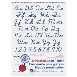 D Nealian Chart Tablet Cursive By Pacon