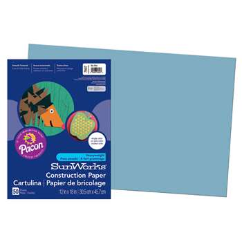 Construction Paper Sky Blue 12X18 By Pacon
