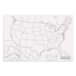 Giant U.S. Map 48In X 72In By Pacon