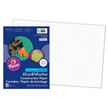 Construction Ppr Bright White 12X18 By Pacon
