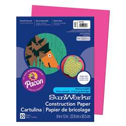 Construction Paper Hot Pink 9X12 By Pacon