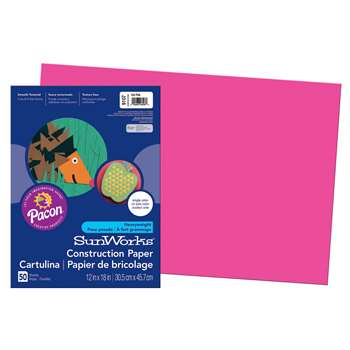 Construction Paper Hot Pink 12X18 By Pacon