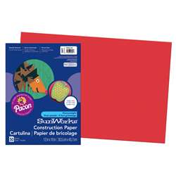 Construction Ppr Holiday Red 12X18 By Pacon