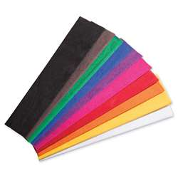 10 Color Asst Crepe Paper Creativity Street, PACAC10250
