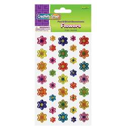 Gemstone Stickers Flowers 37 Pc, PACAC1640