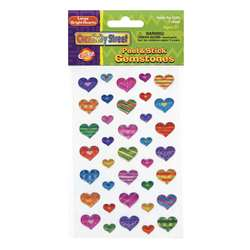 Gemstone Stickers Large Hearts 37Pc, PACAC1689
