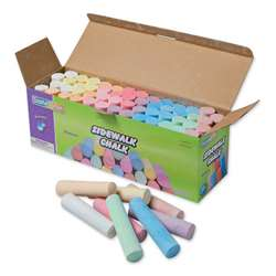 Sidewalk Chalk 52 Pcs Assrtd Colors, PACAC1752