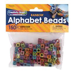 Alphabet Beads Assorted Rainbow Creativity Street, PACAC3256
