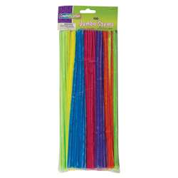 Jumbo Stems Hot Assorted Colors 100 Pieces, PACAC711004
