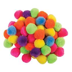 "Pom Pons Hot Colors 1"" 50 Pieces, PACAC811302"