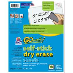 Go Write Dry Erase Sheets 30Pk 8 1/2 X 11 Plain By Pacon