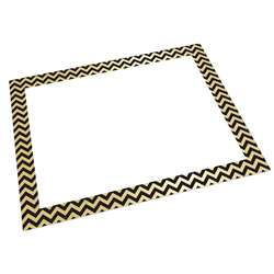 Foil Poster Board Gold/Black Chevrn 25 Sheets, PACCAR39940