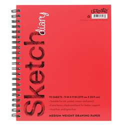 Sketch Diary Medium Weight 11X9 70 Sheets, PACCAR53007