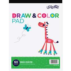 Draw & Color Pad White 9X12 60 Shts, PACCAR90510