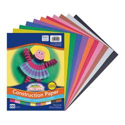 Construction Paper 10 Colors 9X12 500 Sheets, PACCON01500