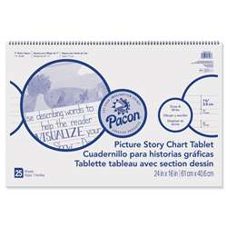 "Chart Tablet 24X16 15"" Ruled Picure Story, PACMMK07426"