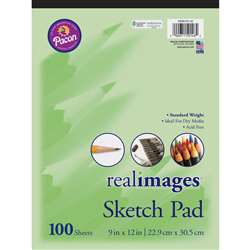 Real Images Sketch Pad Stand Weight 9X12 100 Sheet, PACMMK50146