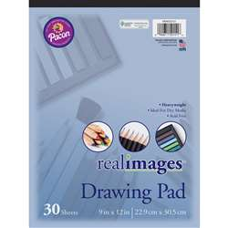 Real Images Drawing Pad Heavyweight 9X12 30 Sheets, PACMMK50151