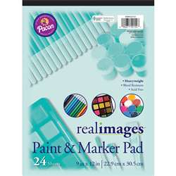 Real Images Paint & Markr Pad Heavy 9X12 24 Sheets, PACMMK50154