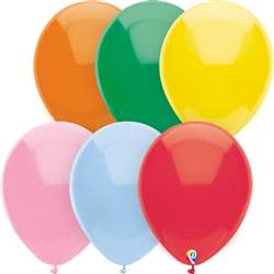 "12"" Balloons Assorted Solids 144Ct, PBN25594"