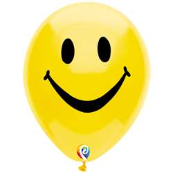 "12"" Smiley Face Balloon 2 Side 8Pk, PBN57447"