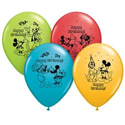 "12"" Mickey Happy Bday Balloons 6Pk, PBN72419"