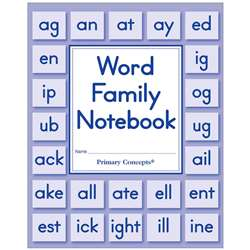 Word Family Notebook Set Of 5, PC-3900